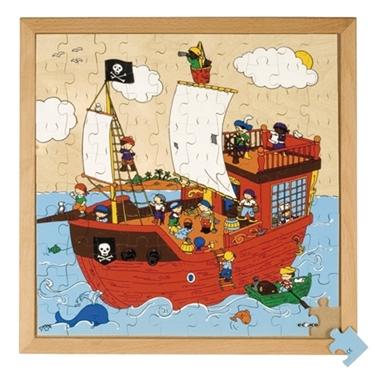 """Εικόνα της Ξύλινο παζλ """"πειρατικό καράβι"""""""