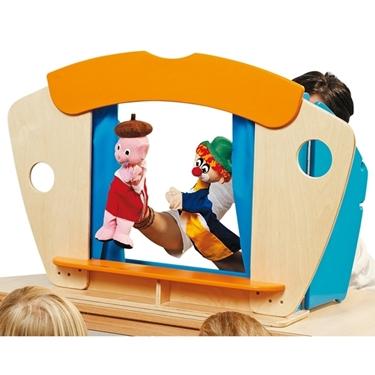Εικόνα της Επιτραπέζιο ξύλινο κουκλοθέατρο