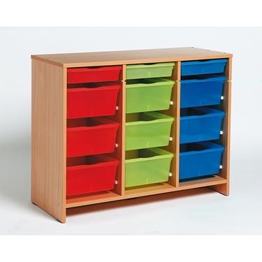 Εικόνα της Μονάδα με 12 χρωματιστά πλαστικά κουτιά.