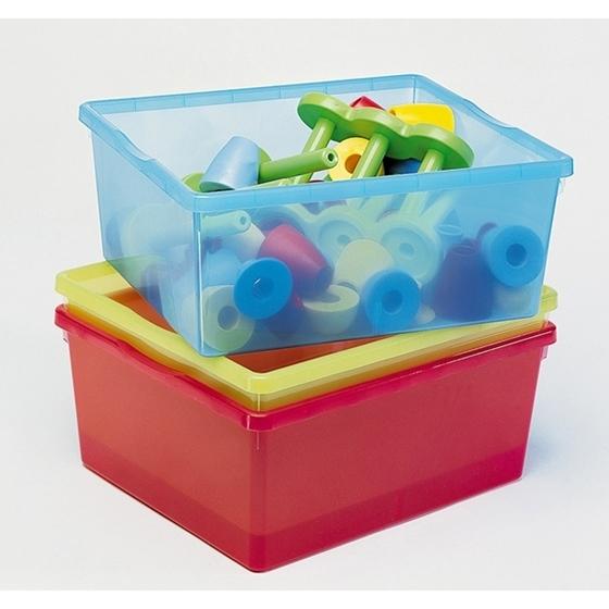 Εικόνα της Βαθιά χρωματιστά πλαστικά κουτιά.