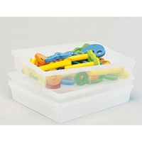 Εικόνα της Ρηχά διαφανή πλαστικά κουτιά