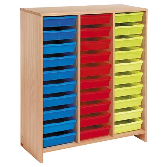 Εικόνα της Μονάδα με 30 χρωματιστά συρτάρια.
