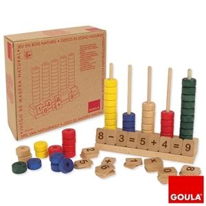 Εικόνα της Κάθετος ξύλινος άβακας με αριθμούς και σύμβολα