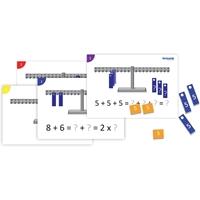 Εικόνα της Σετ ασκήσεων για τη μαθηματική ζυγαριά.