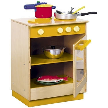 Εικόνα της Κουζίνα σε πορτοκαλί.