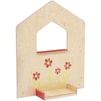 Εικόνα της Πλευρά με παράθυρο και λουλούδια.