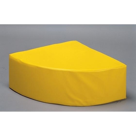 Εικόνα της Τεταρτημόριο πουφ κίτρινο