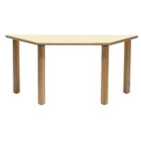 Εικόνα της Ξύλινο τραπέζι σε σχήμα τραπεζίου