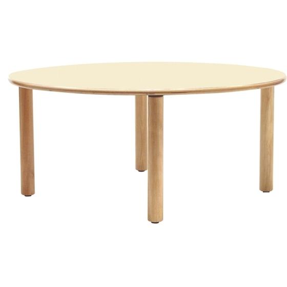 Εικόνα της Ξύλινο στρογγυλό τραπέζι