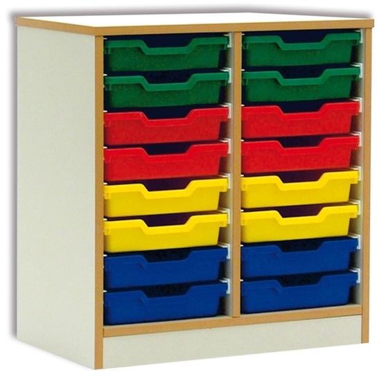 Εικόνα της Ξύλινη διπλή συρταριέρα.