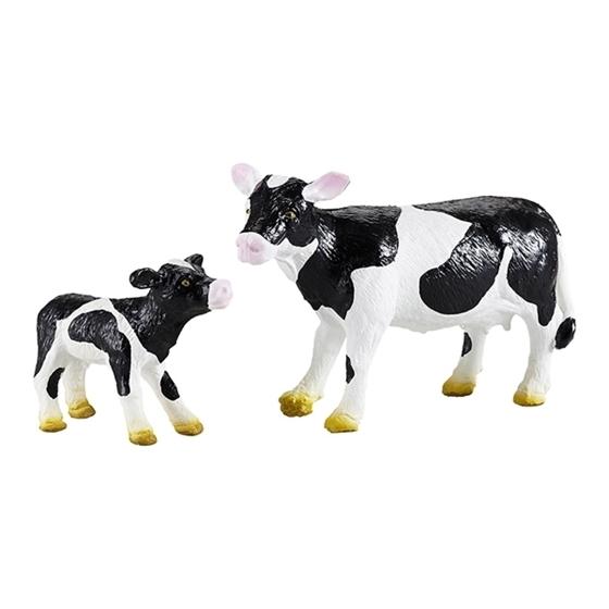 Εικόνα της Μαμά και μωρό αγελάδες.