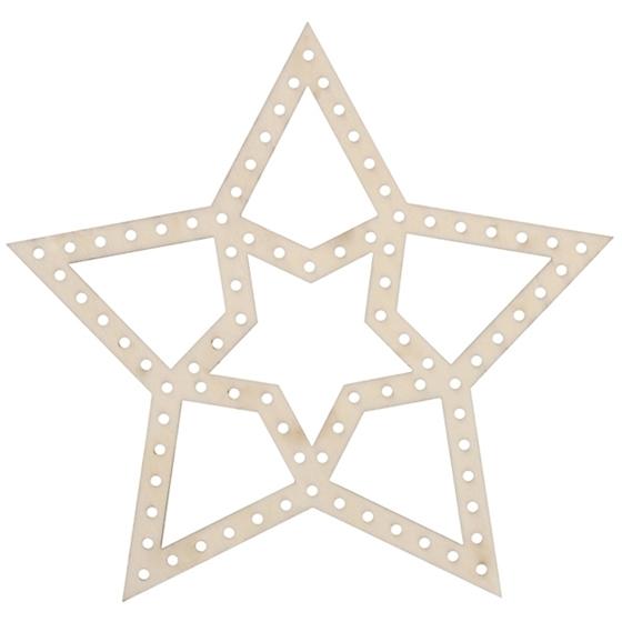 Εικόνα της Ξύλινο αστέρι για διακόσμηση.