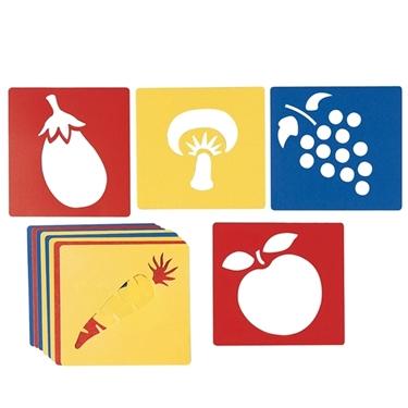 Εικόνα της Στένσιλ φρούτα και λαχανικά.