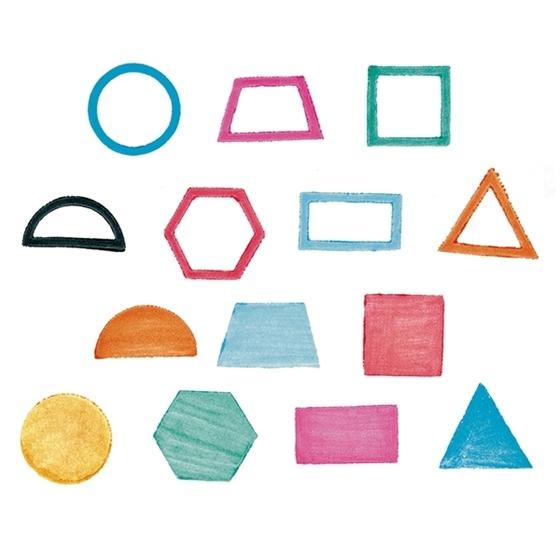 Εικόνα της Σφραγίδες γεωμετρικά σχήματα.