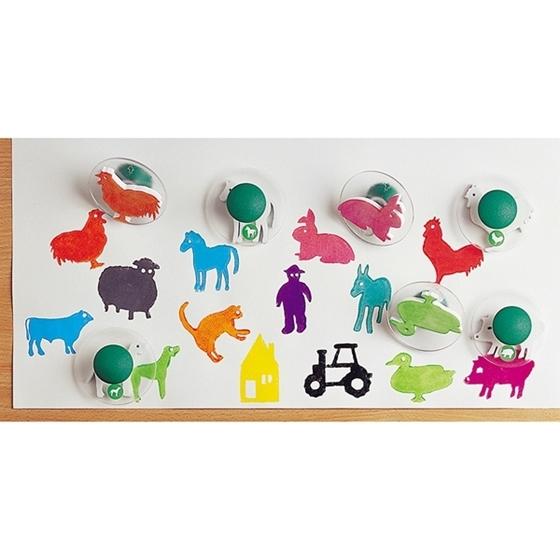 Εικόνα της Σφραγίδες ζώα φάρμας.