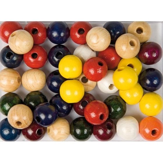 Εικόνα της Ξύλινες χάντρες διαφόρων χρωμάτων.