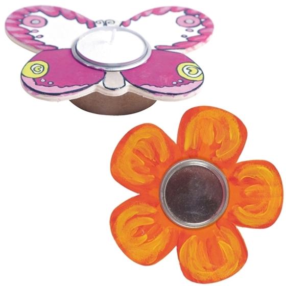 Εικόνα της Ξύλινη βάση για ρεσώ πεταλούδα ή λουλούδι.