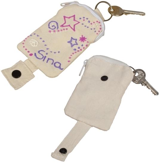 Εικόνα της Υφασμάτινη κλειδοθήκη με πορτοφολάκι.