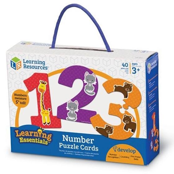 Εικόνα της Χάρτινο παζλ αριθμών και ποσοτήτων
