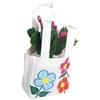 Εικόνα της Υφασμάτινη τσάντα για λουλούδια με πλαστικό στο εσωτερικό της.