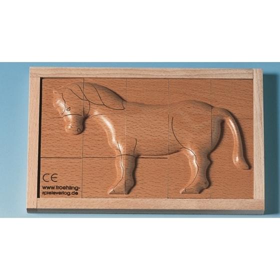 """Εικόνα της Ξύλινο ανάγλυφο παζλ """"Άλογο"""""""