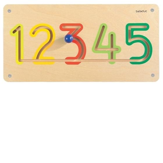 """Εικόνα της Ξύλινο παιχνίδι προγραφής τοίχου αριθμοί  """"1-5"""""""