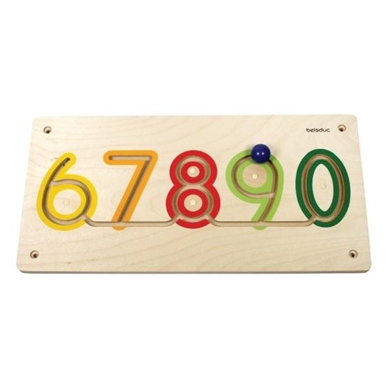 """Εικόνα της Ξύλινο παιχνίδι προγραφής τοίχου αριθμοί  """"6-0""""."""