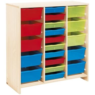 Εικόνα της Μονάδα με 20 χρωματιστά συρτάρια.