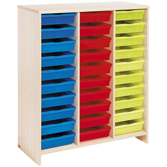 Εικόνα της Συρταριέρα με 30 χρωματιστά συρτάρια.