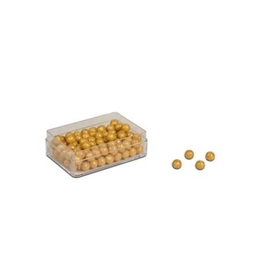Εικόνα της 100 Golden Bead Units,Connected, Beads, Nylon
