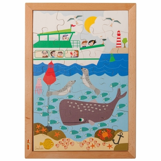 """Εικόνα της Ξύλινο Παζλ Πάνω Κάτω """"Θάλασσα"""""""