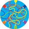 """Εικόνα της Στρογγυλός οικολογικός τάπητας ¨Χρώματα"""","""