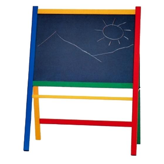 Εικόνα της Ξύλινος πίνακας κιμωλίας με τρίποδο