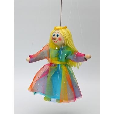 """Εικόνα της Μαριονέττα """"Κοριτσάκι με πολύχρωμο φόρεμα"""""""