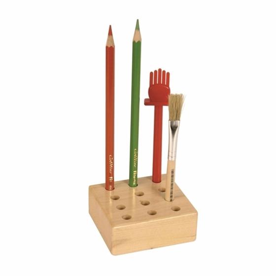 Εικόνα της Ξύλινη βάση για πινέλα και μολύβια