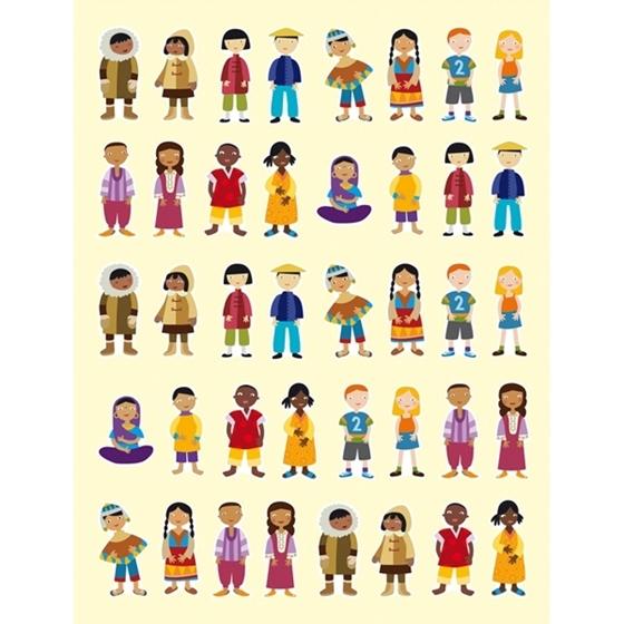 """Εικόνα της Αυτοκόλλητα """"Παιδιά του Κόσμου"""""""