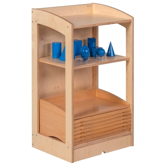 """Εικόνα της Ραφιέρα υλικών γεωμετρίας - βιολογίας κλειστή """"Montessori"""""""