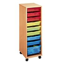 Εικόνα της Τροχήλατη Συρταριέρα με Χρωματιστά Συρτάρια.