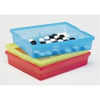 Εικόνα της Ρηχά χρωματιστά πλαστικά κουτιά.