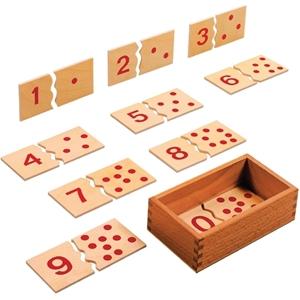 Εικόνα της Ξύλινο παζλ αριθμών 1-10