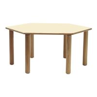 Εικόνα της Ξύλινο εξάγωνο τραπέζι