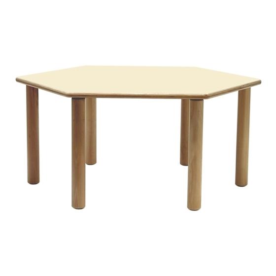 Εικόνα της Ξύλινο Εξαγωνικό Τραπέζι