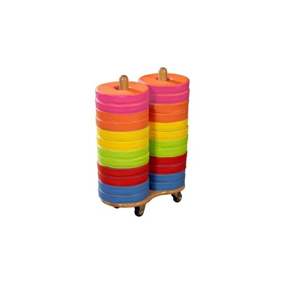 Εικόνα της Τρόλεϊ με 24 Μαξιλαράκια Χρωμάτων