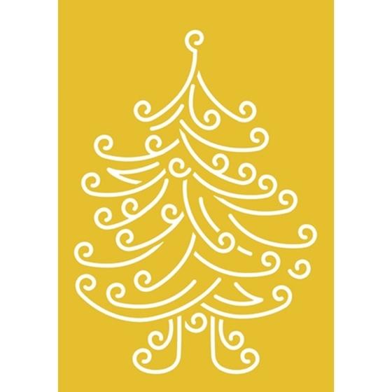 Εικόνα της Στένσιλ Χριστουγεννιάτικο Δέντρο