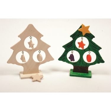 Εικόνα της Χριστουγεννιάτικο δεντράκι με διακοσμητικά.