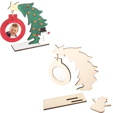Εικόνα της Χριστουγεννιάτικη κορνίζα.
