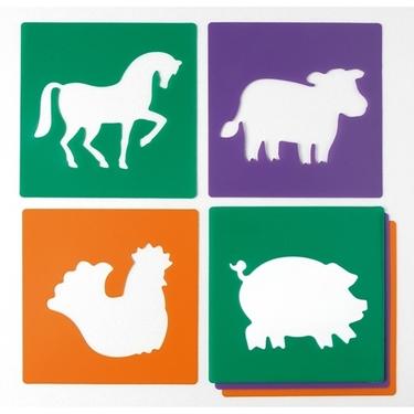 Εικόνα της Μεγάλα στένσιλ ζώα φάρμας.