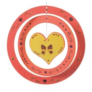 Εικόνα της Ξύλινο κρεμαστό διακοσμητικό Καρδιά
