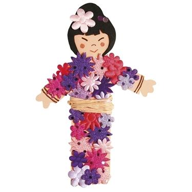 Εικόνα της Αυτοκόλλητα Υφασμάτινα Λουλούδια