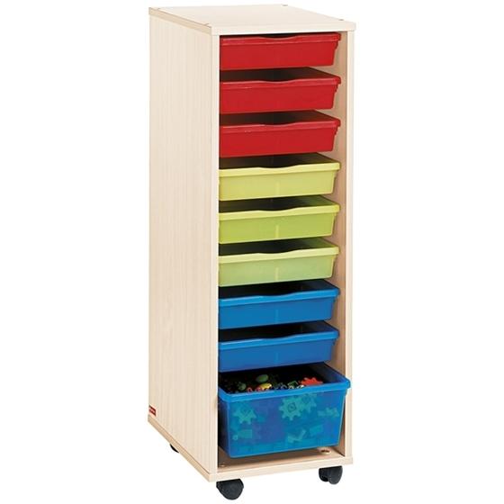 Εικόνα της Τροχήλατη Συρταριέρα με Χρωματιστά Συρτάρια